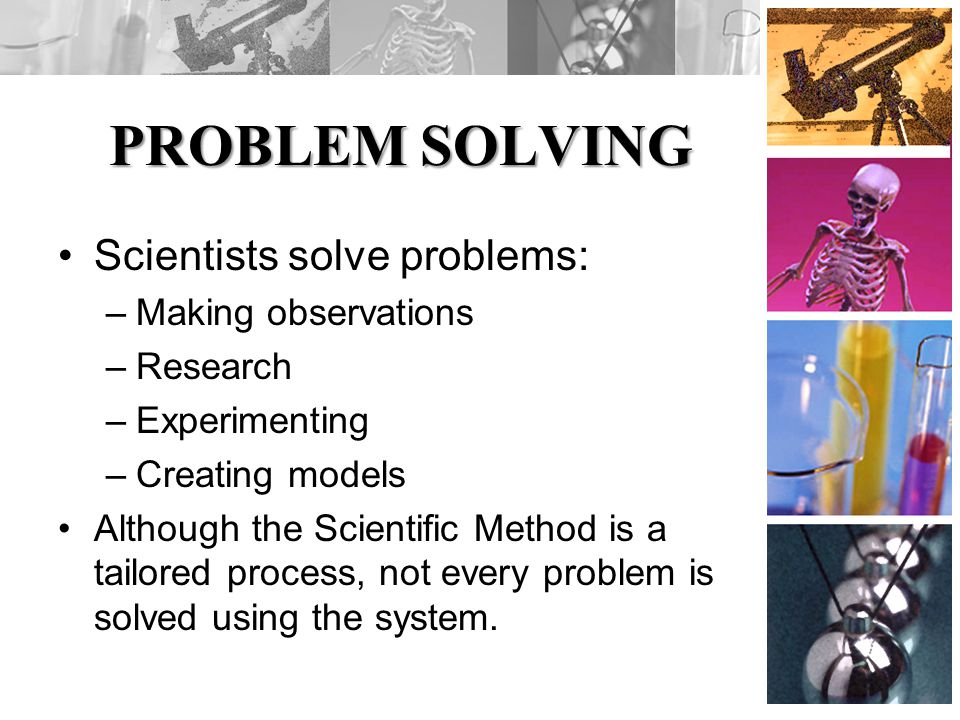 Im having troubles coming up with a science problem, can you help?
