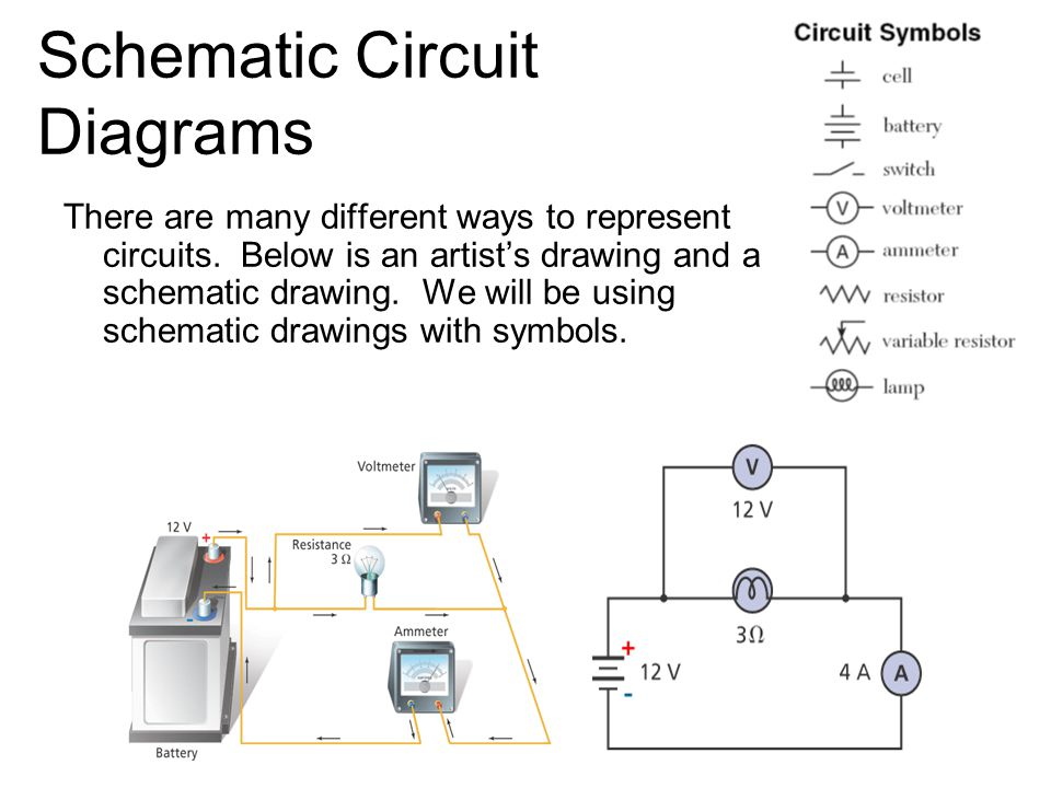 series circuits schematic circuit diagrams there are many different rh slideplayer com Simple Circuit Diagrams Circuit Diagram Symbols