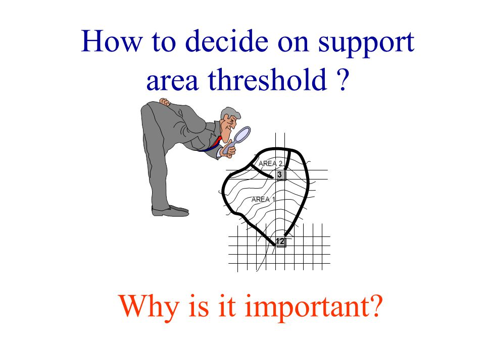 How to decide on support area threshold AREA 1 AREA Why is it important