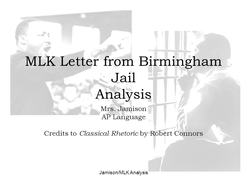 mlk letter Martin luther king, jr - the letter from the birmingham jail: in birmingham, alabama, in the spring of 1963, king's campaign to end segregation at lunch counters and in hiring practices drew nationwide attention when police turned dogs and fire hoses on the demonstrators.