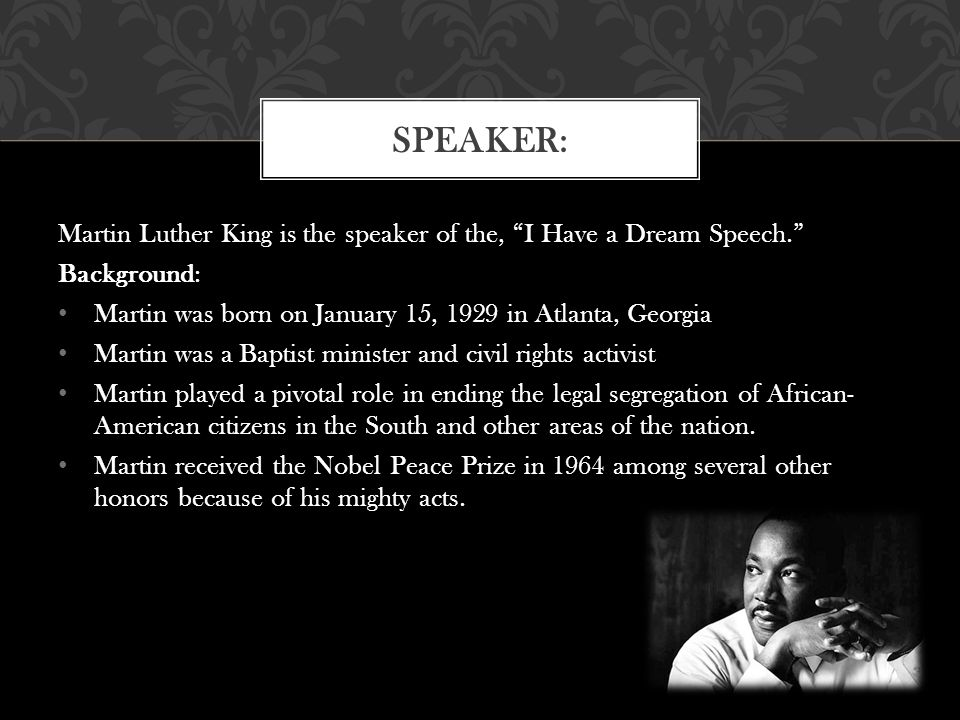 thesis of i have a dream speech