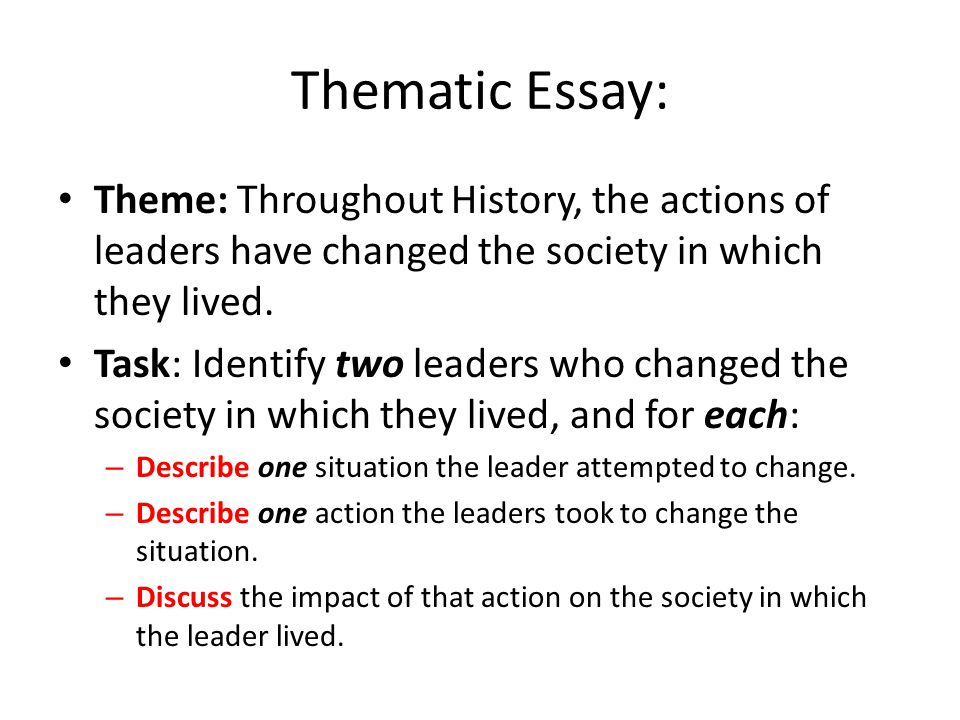 thematic essay change