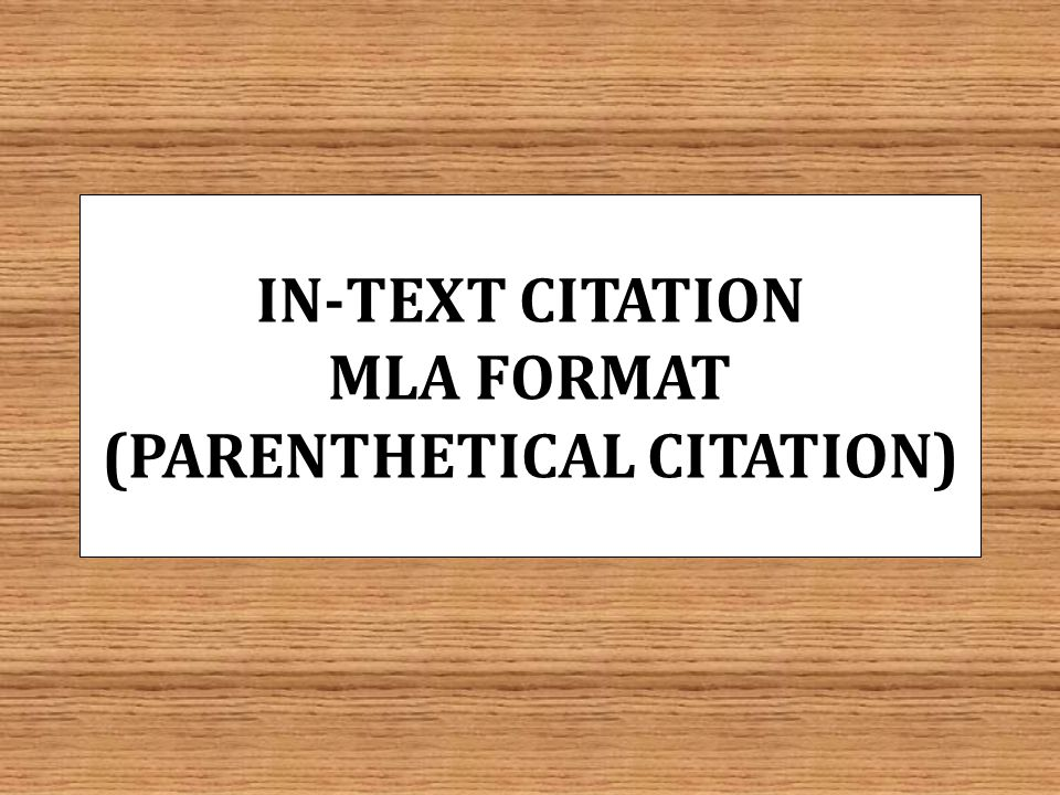 mla format for in text citations