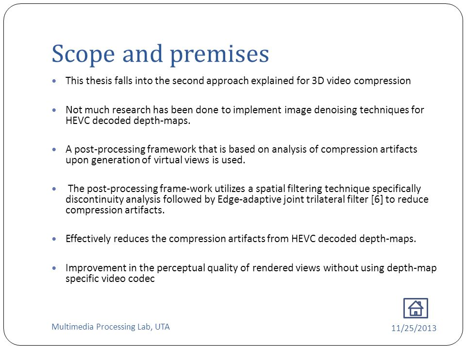 3d video compression thesis
