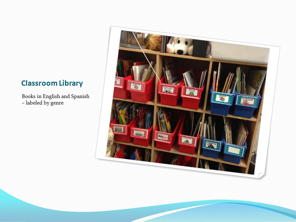 Classroom Library Books in English and Spanish – labeled by genre