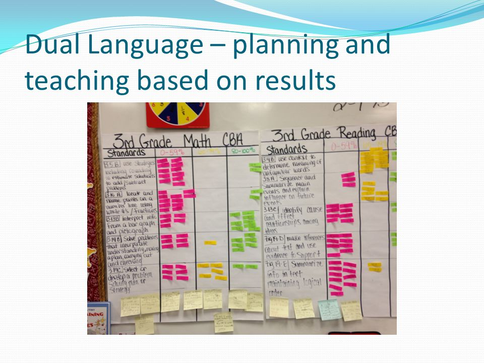 Dual Language – planning and teaching based on results