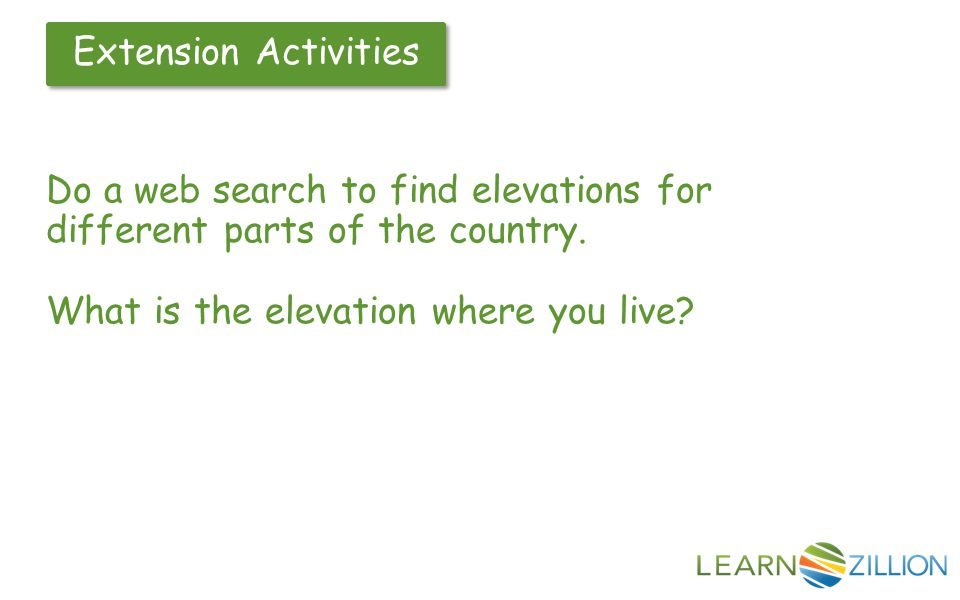 How Do You Describe Elevations That Are Above Sea Level And Below - Find elevation above sea level