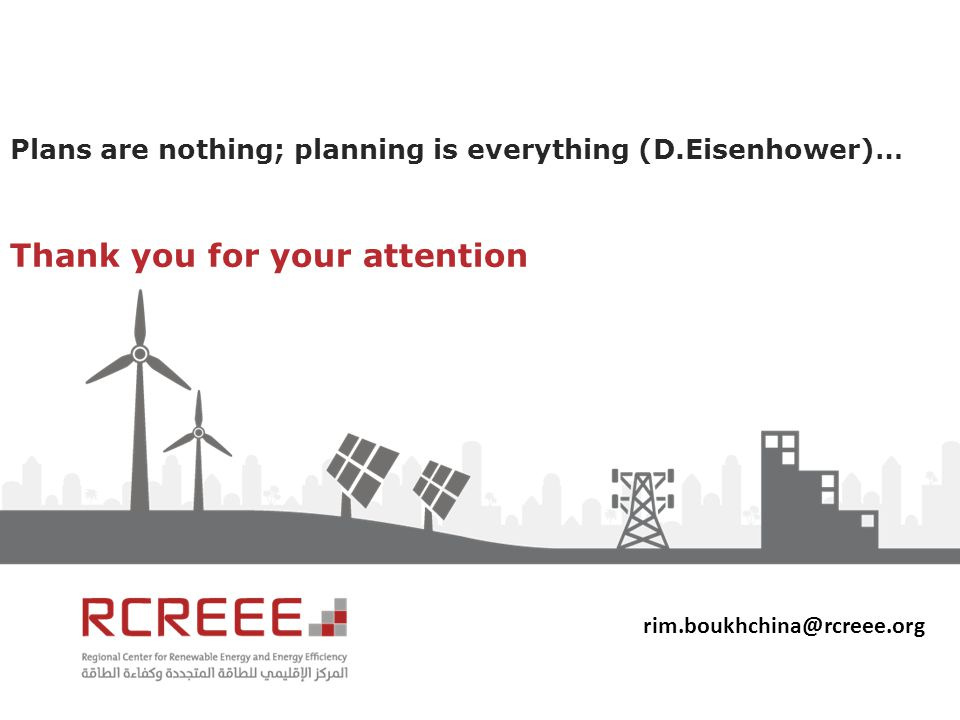 Plans are nothing; planning is everything (D.Eisenhower)… Thank you for your attention