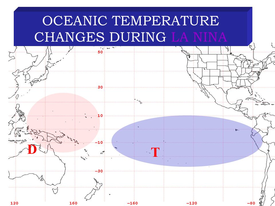 D T OCEANIC TEMPERATURE CHANGES DURING LA NINA