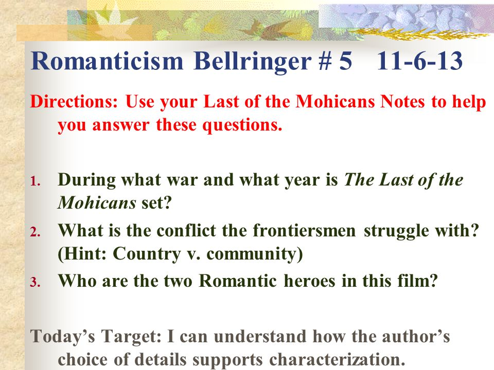 I Need Serious Help on an Essay on Romanticism?