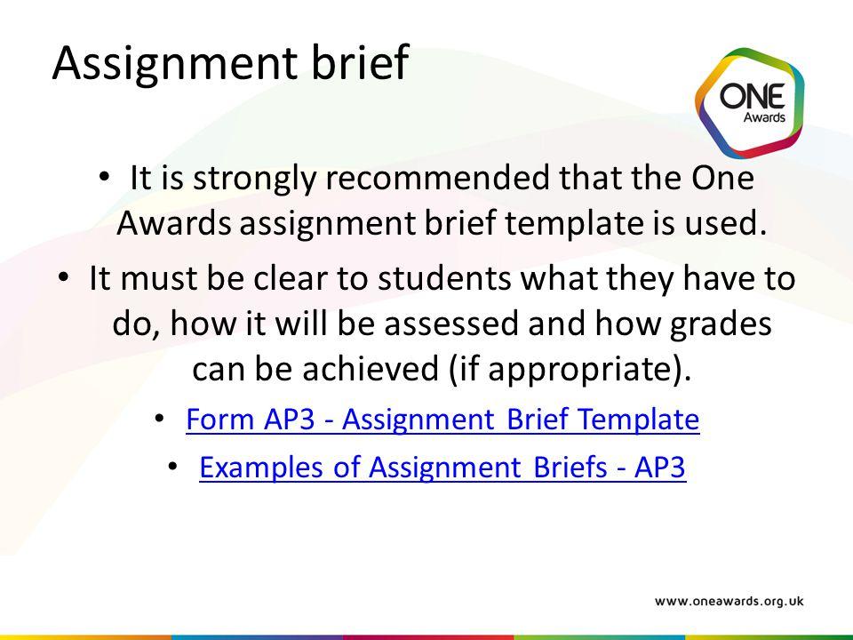 Assignment brief