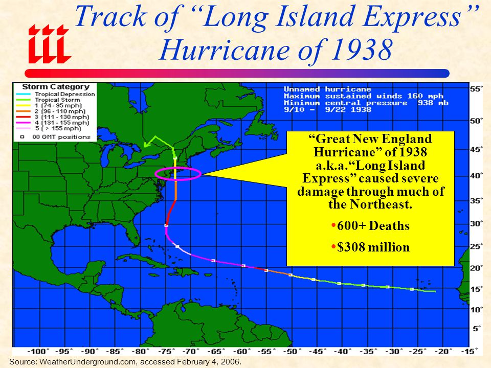 Number of Hurricanes Directly & Indirectly Affecting the Northeast Since 1900 Tropical cyclone activity in the Northeast is not all that uncommon Source: New Hampshire Office of Emergency Management NY has been affected by 23 hurricanes since 1900