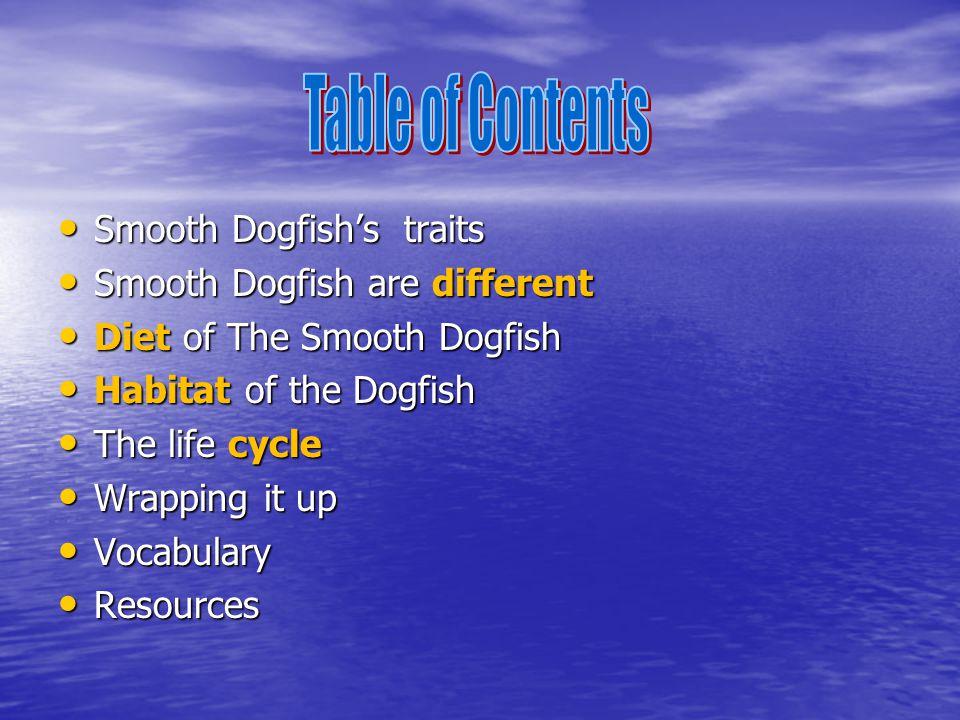 Smooth Dogfish Smooth Dogfish's Traits Smooth