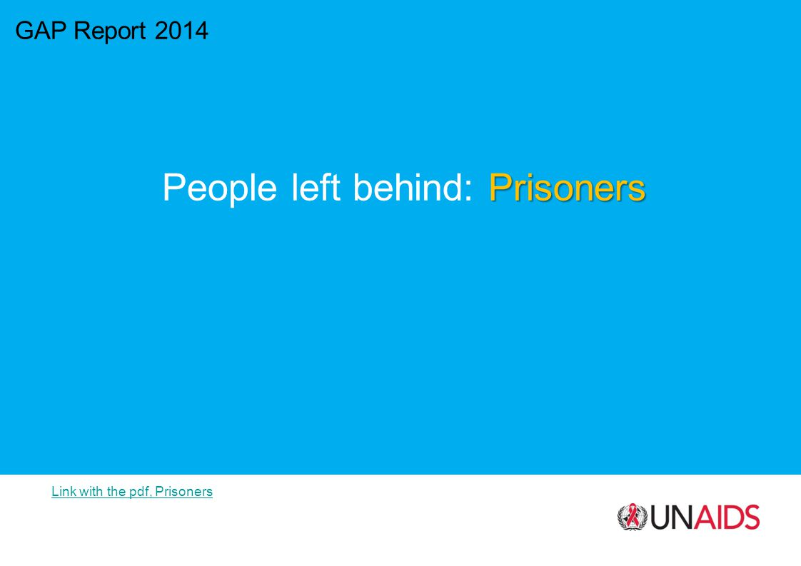 GAP Report 2014 Prisoners People left behind: Prisoners Link with the pdf, Prisoners