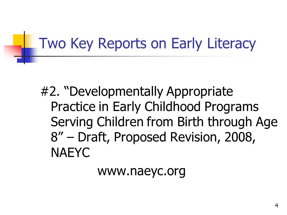 4 Two Key Reports on Early Literacy #2.