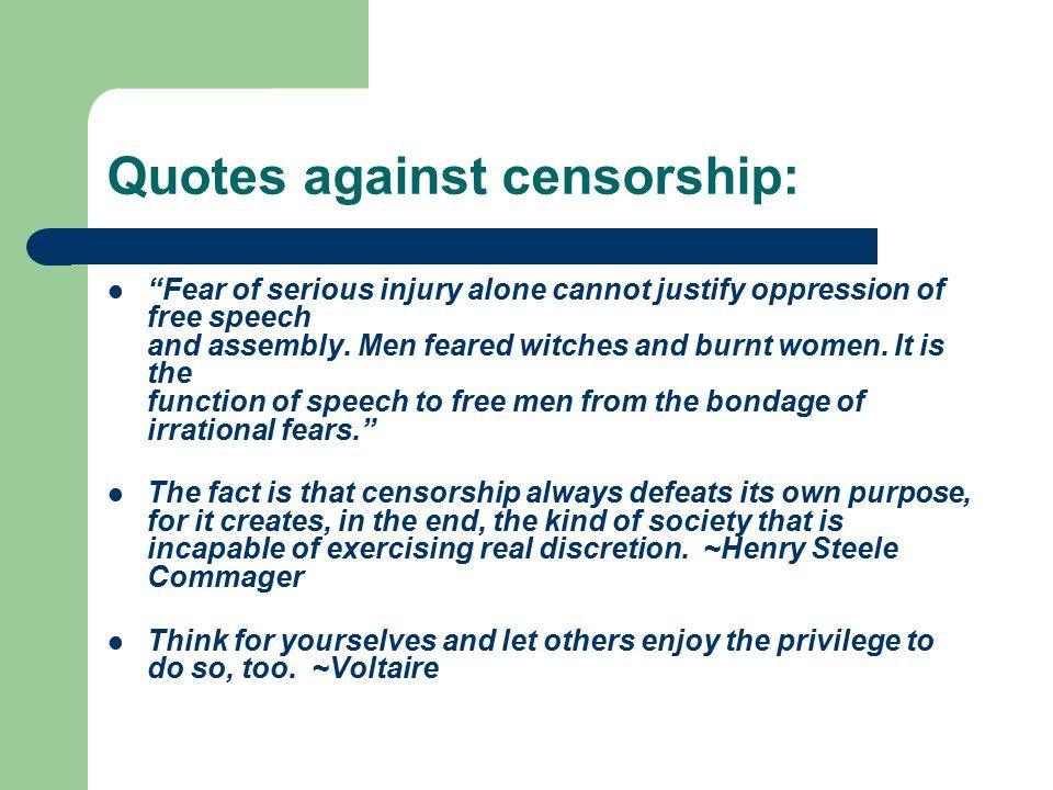 Censorship Essay