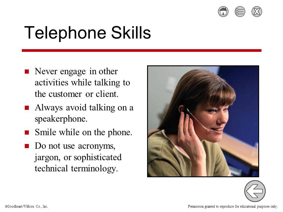 telephone skills activities