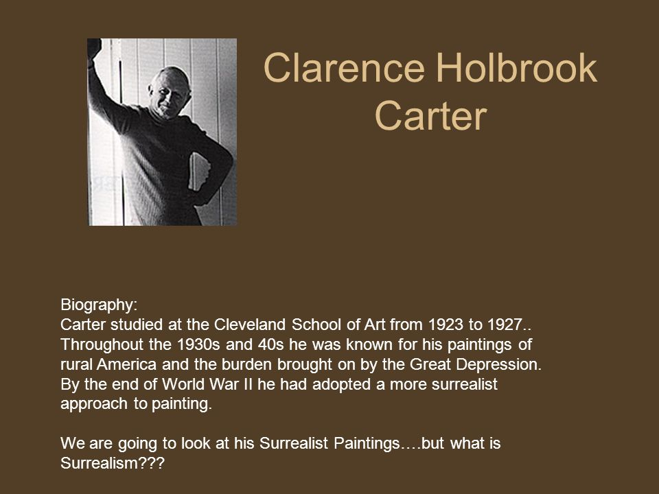 Clarence Holbrook Carter Biography: Carter studied at the Cleveland School of Art from 1923 to