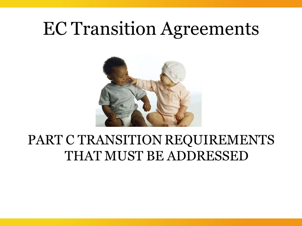 EC Transition Agreements PART C TRANSITION REQUIREMENTS THAT MUST BE ADDRESSED