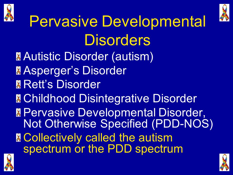pervasive developmental disorders in preschool children essay Context prevalence rates of autism-spectrum disorders are uncertain, and speculation that their incidence is increasing continues to cause concern objective to estimate the prevalence of pervasive developmental disorders (pdds) in a geographically defined population of preschool children.