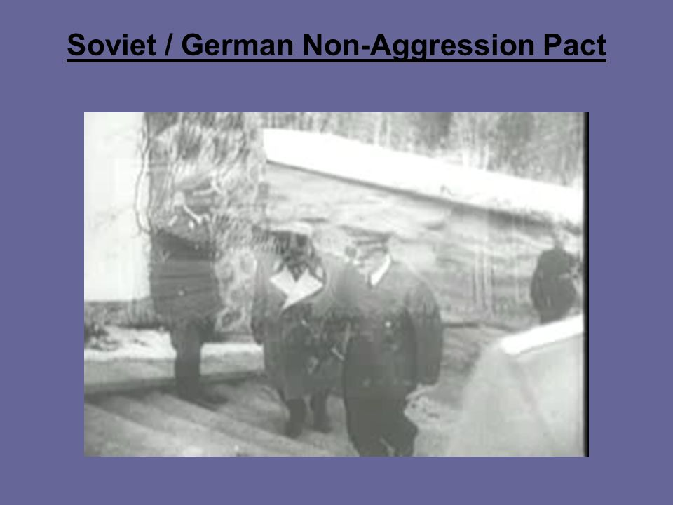 Soviet / German Non-Aggression Pact