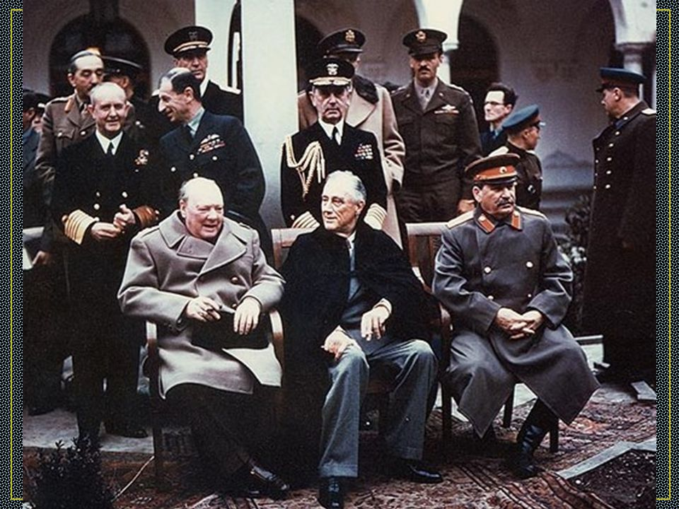 Yalta Conference: A Postwar Plan In February 1945, British, American, and Soviet leaders meet at Yalta They agree to divide Germany into zones of occupation when WWI ends Soviet leader Stalin agrees to allow free elections in Eastern Europe