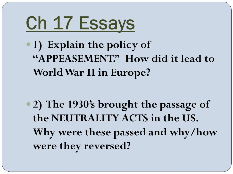 Is this a good lead for an essay about World War I?