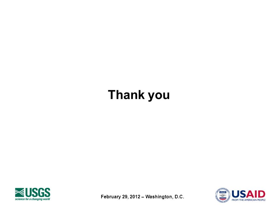 February 29, 2012 – Washington, D.C. Thank you