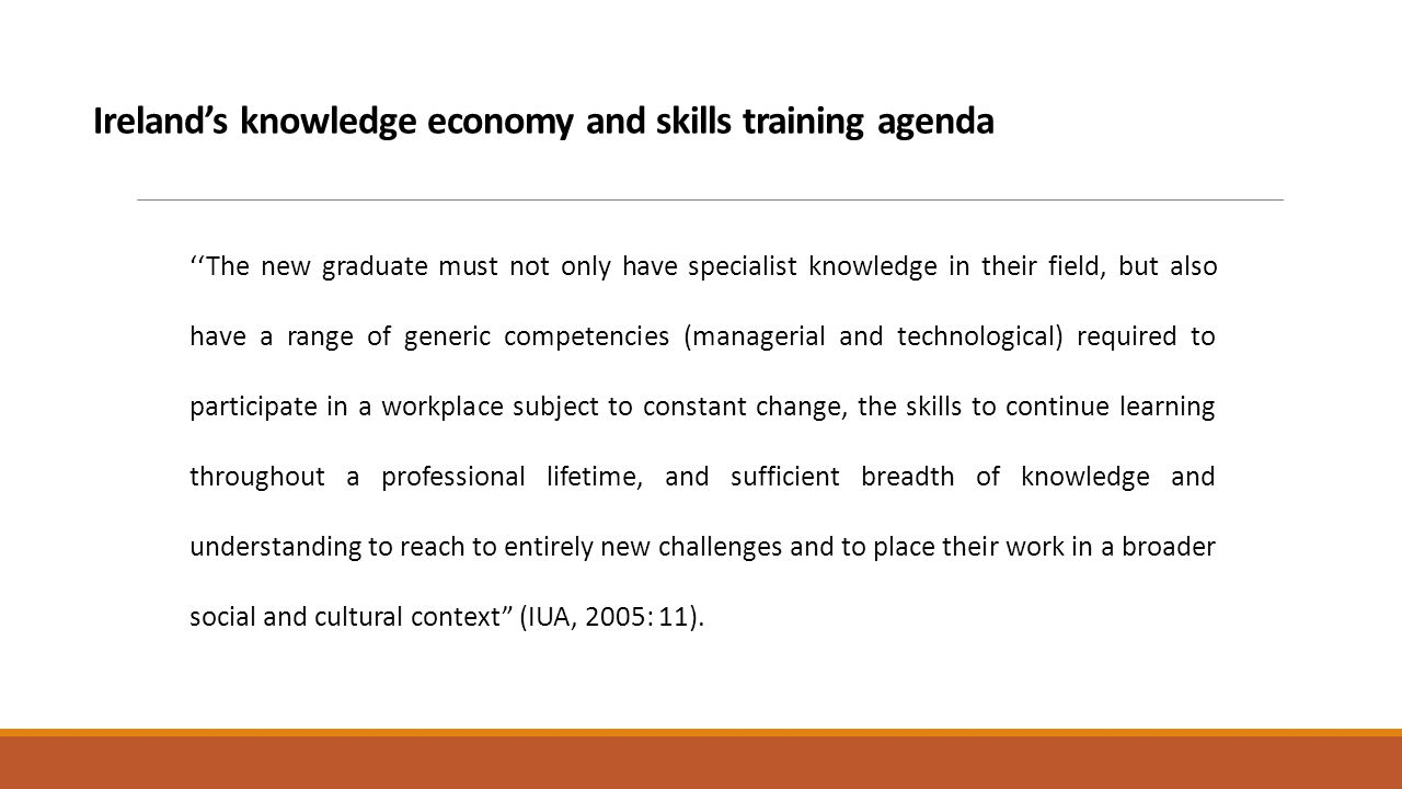 s knowledge society and transferable skills provision 6 s