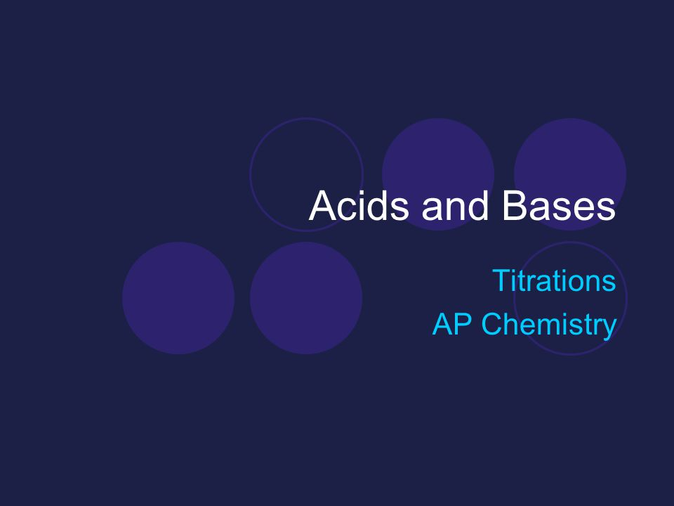Acids and Bases Titrations AP Chemistry
