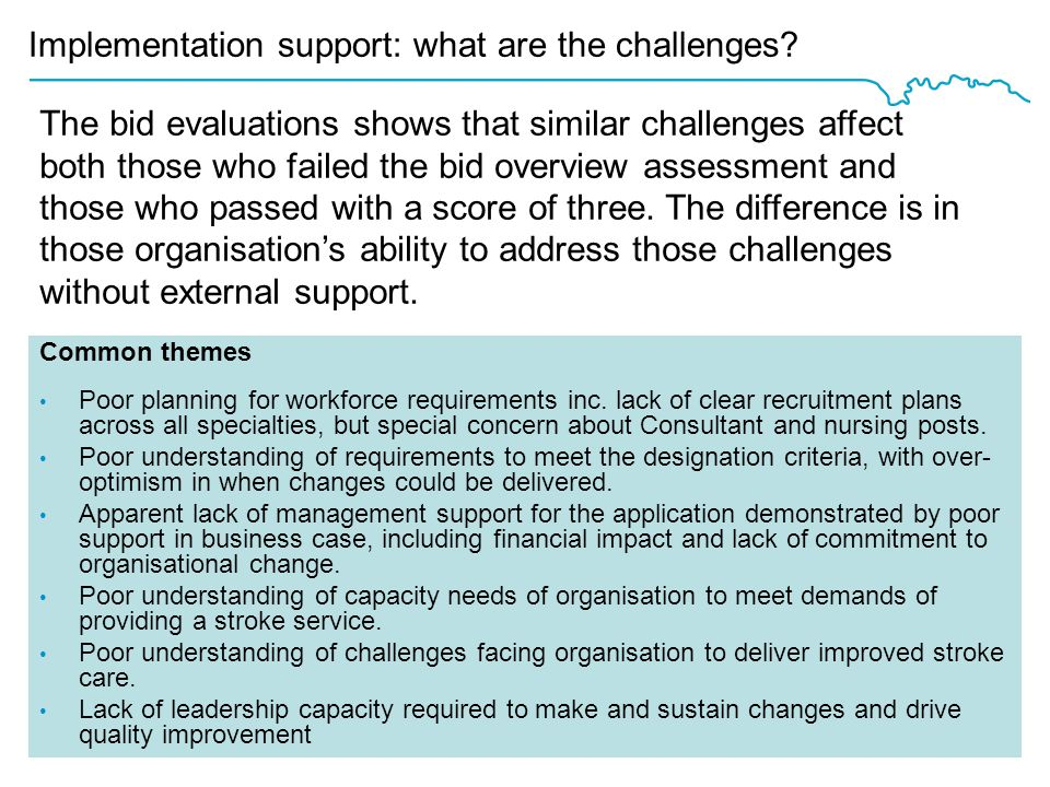 Implementation support: what are the challenges.