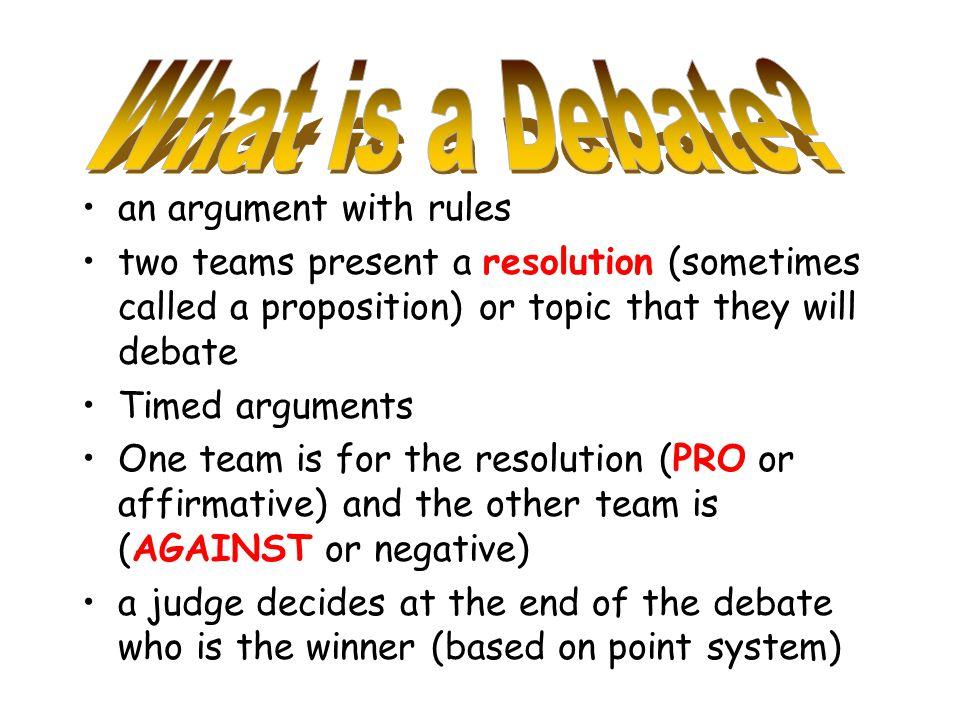 Present an argument