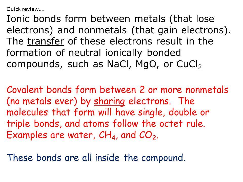 Bonding Class #7 OB: defining the three kinds of Intermolecular ...