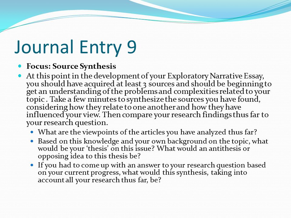 narrative essay with a thesis