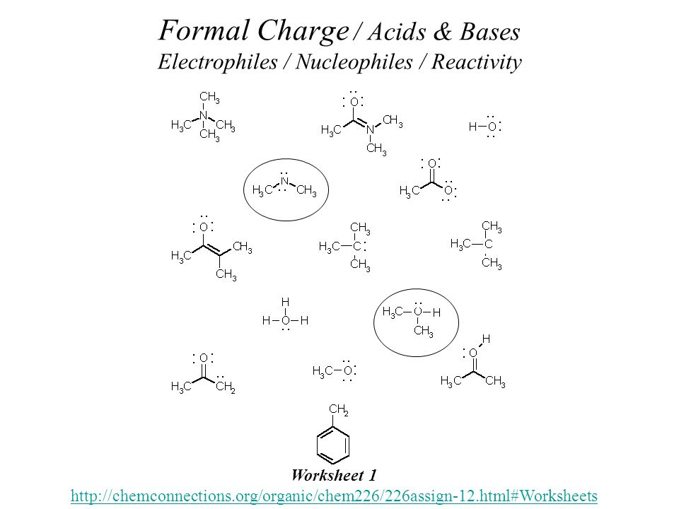 Acids Bases Organic Chemistry Dr Ron Rusay Fall 2012 Chapter 3 – Formal Charge Worksheet