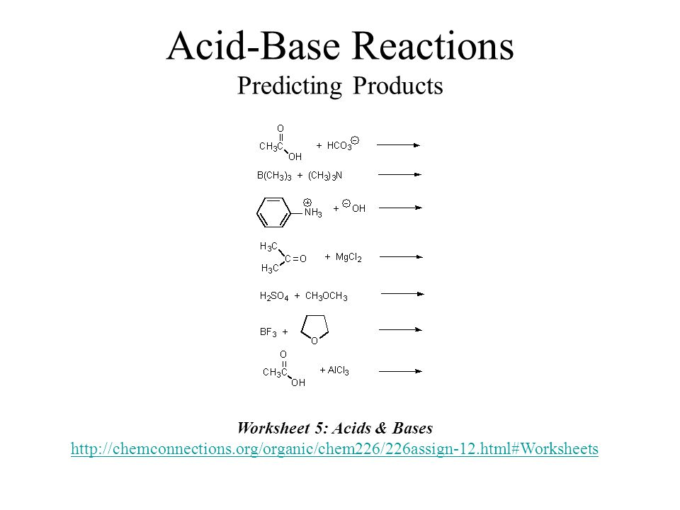 Acids Bases Organic Chemistry Dr Ron Rusay Fall 2012 Chapter 3 – Predicting Products Worksheet Answers