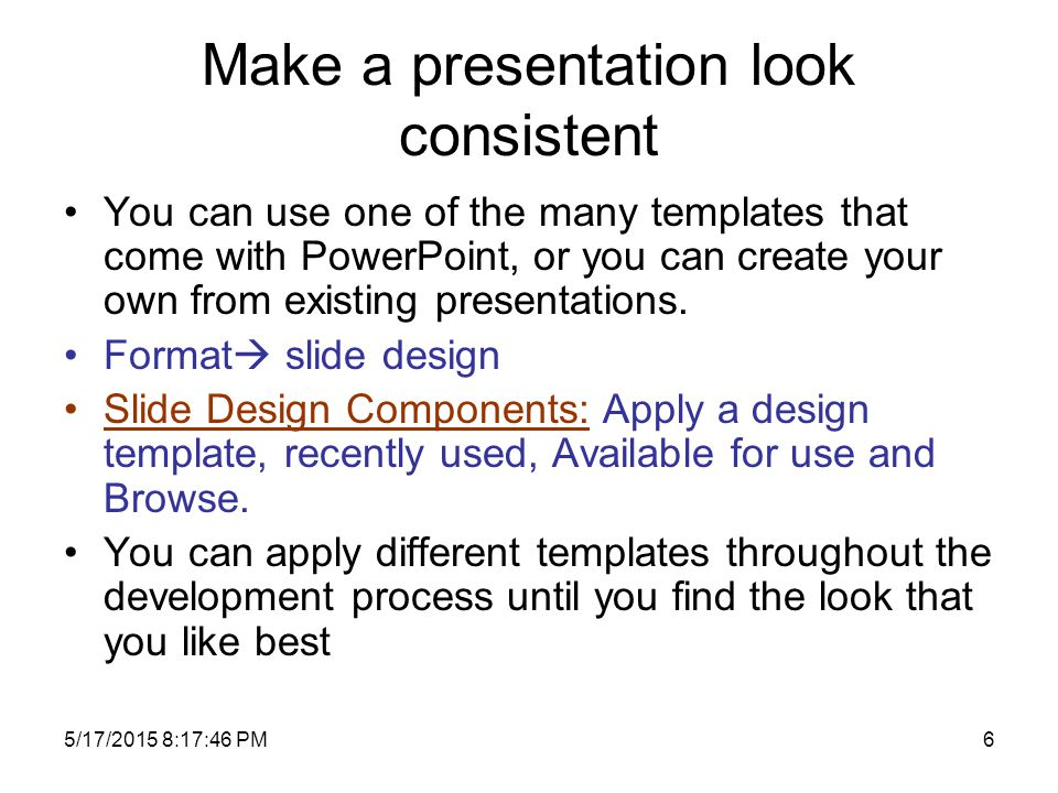 5172015 81916 pm1 ca203 presentation application applying and 5172015 81916 pm5 make a presentation look consistent toneelgroepblik Image collections