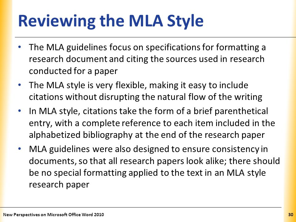 guidelines for an mla research paper