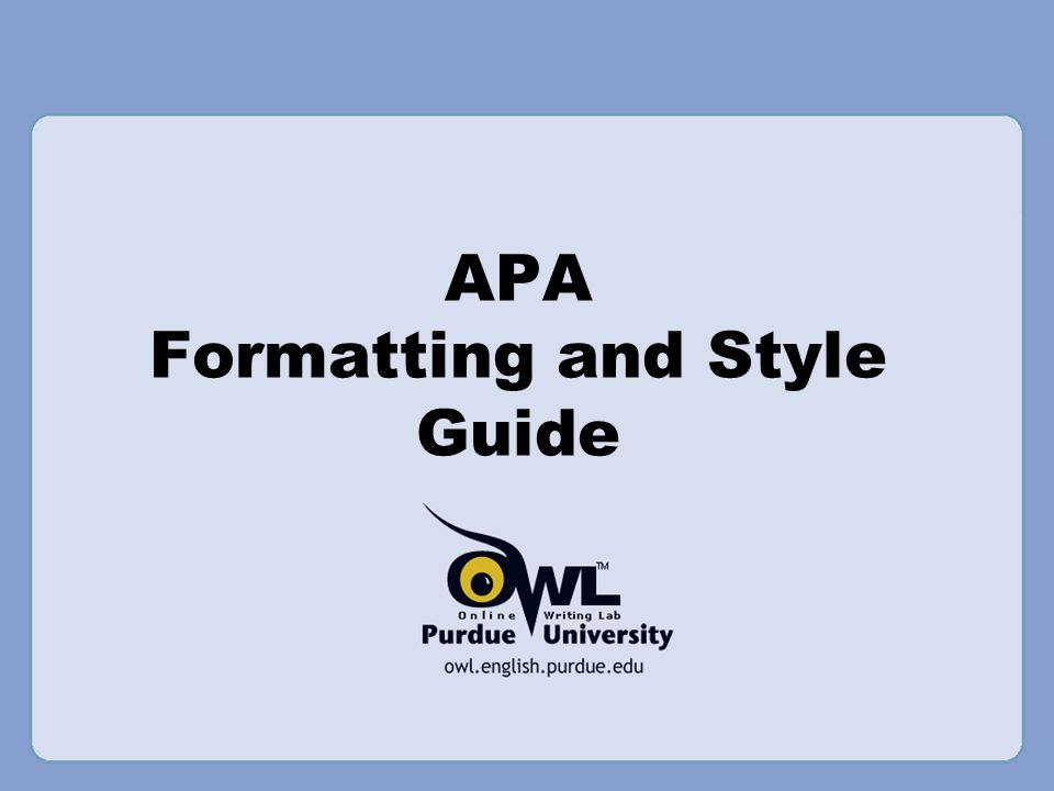 APA Formatting and Style Guide. What is APA? The American ...