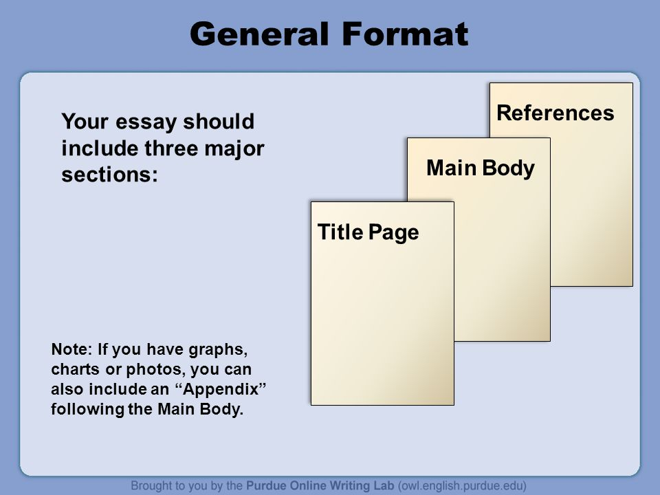 essay appendix or appendices For some papers and reports, you may choose to add a table, graph, or image within the body of the draft or you may choose to include an appendix at the end of your paper.