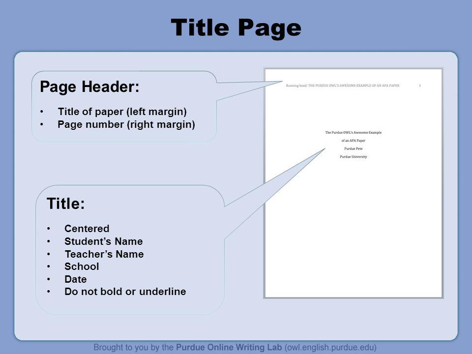 apa page margins