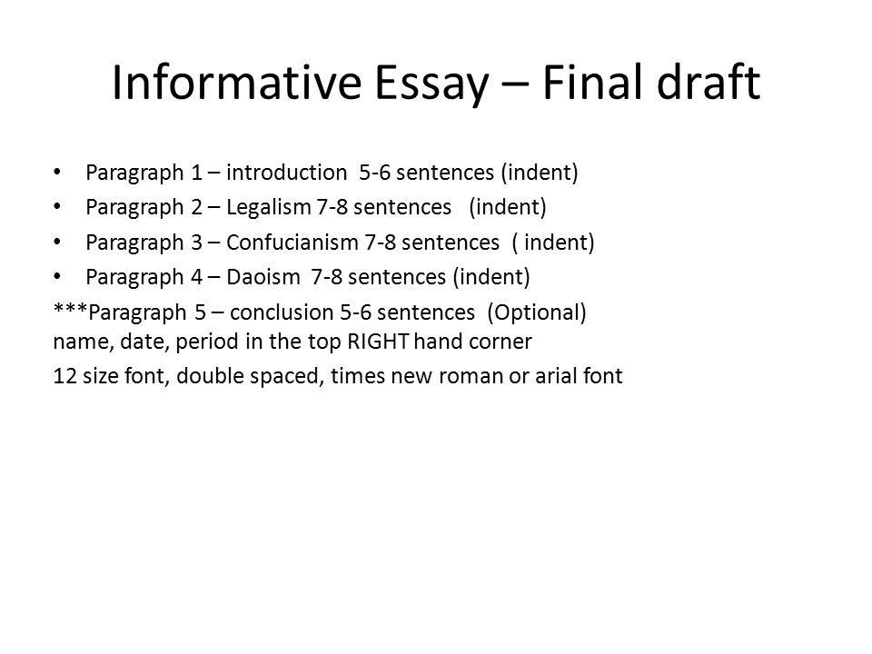 imformative essay on Informative essay example informative journal assignment speech communication 1113 assignment overview this assignment requires that you identify and analyze the most effective and least effective elements of your informative speech.