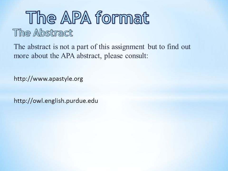 APA abstract please help?