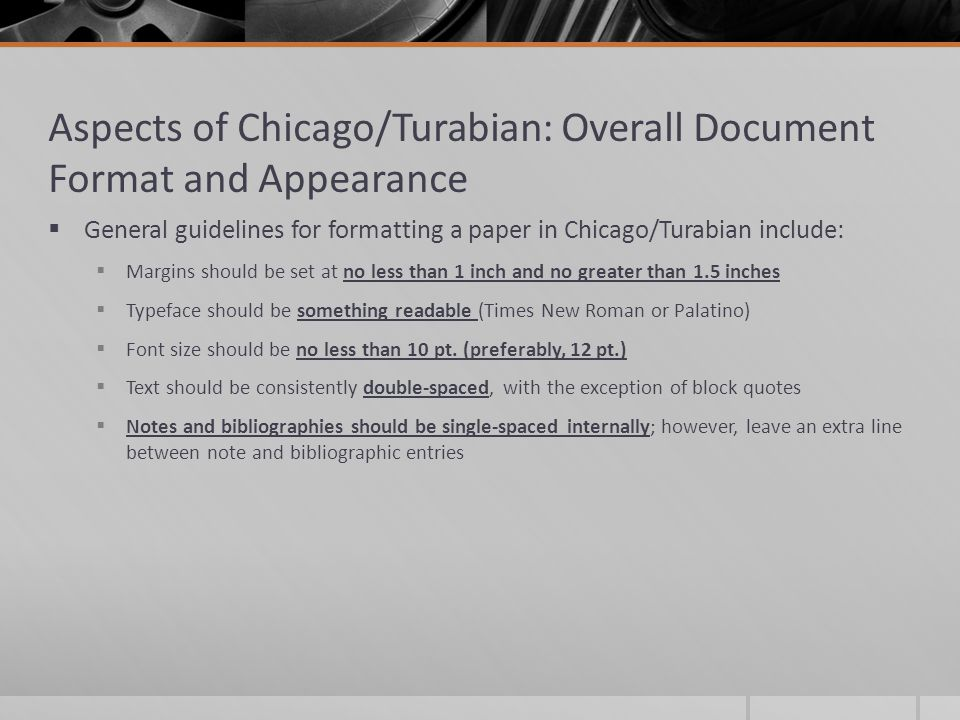 turabian style research papers Turabian sample papers the following sample papers are for you to use as models in formatting your own turabian papers please refrain from copying or redistributing them to others.