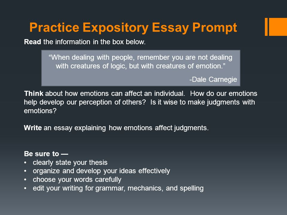 practice expository essay prompt the information in the box  practice expository essay prompt the information in the box below