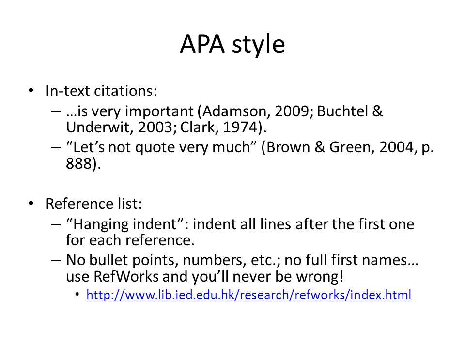 apa format seriation example