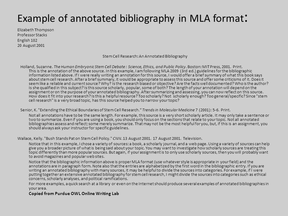 How to Write an Annotated Bibliography for Websites   eHow sop examples