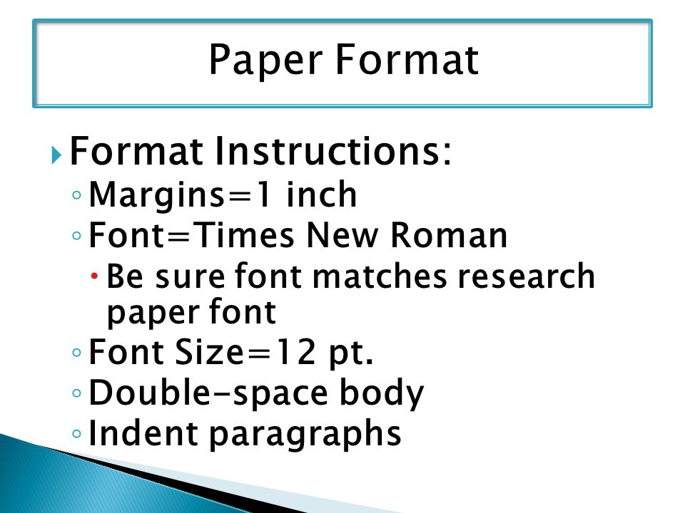 research paper margins