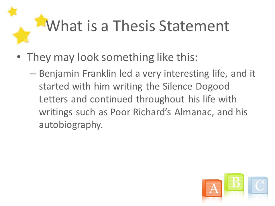 What A Thesis Statement Looks Like