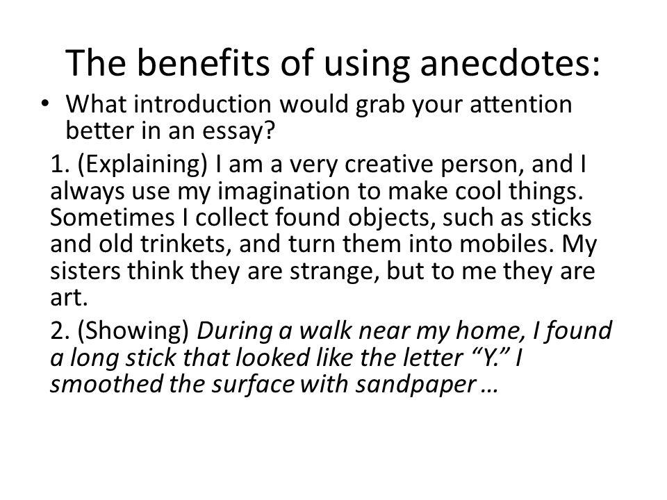 personal anecdote example essay